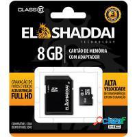 CARTAO DE MEMORIA SD/SDHC CLASSE 10 - 8GB ELSHADDA