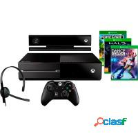 CONSOLE XBOX ONE 500GB + KINECT + 3 JOGOS + CONTRO