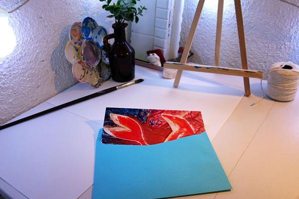 Print Big fish & Begonia - A6