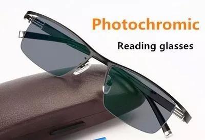 Armação Óculos Foto Transitions Lentes Descanso Metal
