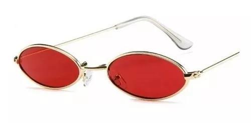 culos Oval Redondo Pequeno Retro Fino Vermelho Trap Hype