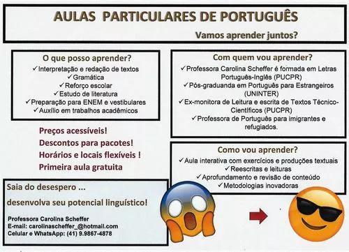 Aulas De Português Para Estrangeiros E Nativos
