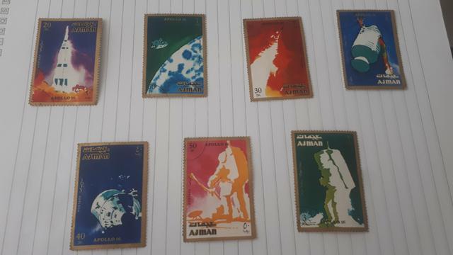 Coleção de selo apolo 16