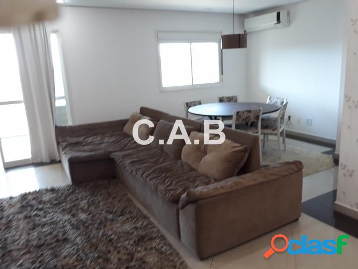 Apartamento 3 dormitórios mobiliado Resort Tamboré
