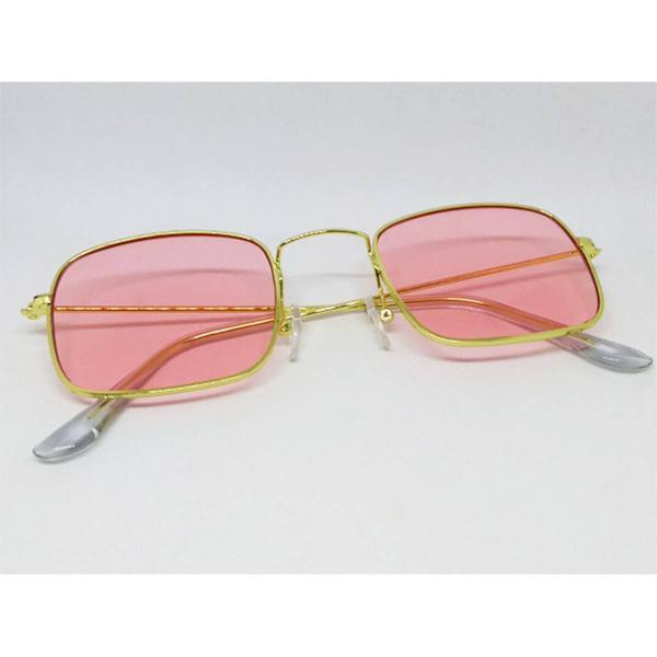 culos de sol quadrado de lente rosa