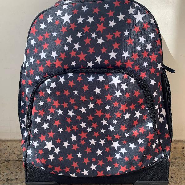 mochila infanto-juvenil com rodinhas e alça