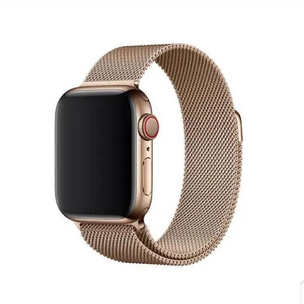 pulseira dourada apple watch série 3 38mm