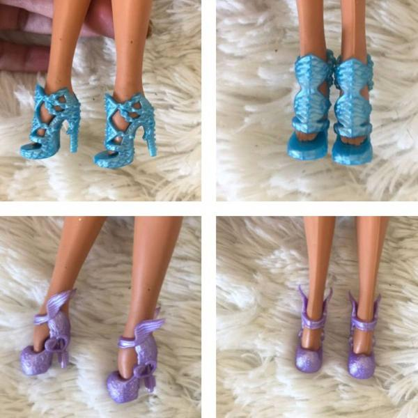 10 pares de sapatos para barbie