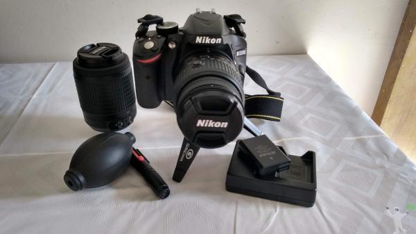Câmera Nikon D lentes
