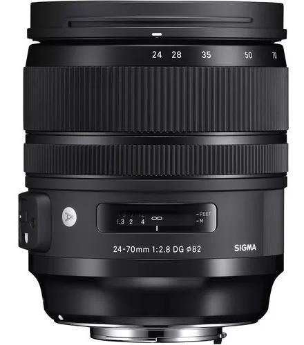 Lente Sigma 24-70mm F/2.8 Dg Os Hsm Art - Nikon Novo