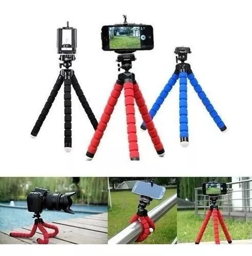Mini Tripé Flexível P/ Câmeras E Celulares Suporte