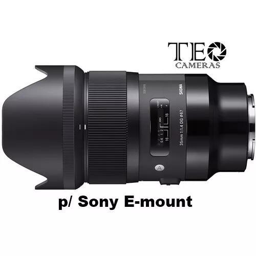 Sigma 35mm F1.4 Art E-mount P/ Sony C/ Recibo Pronta Entrega