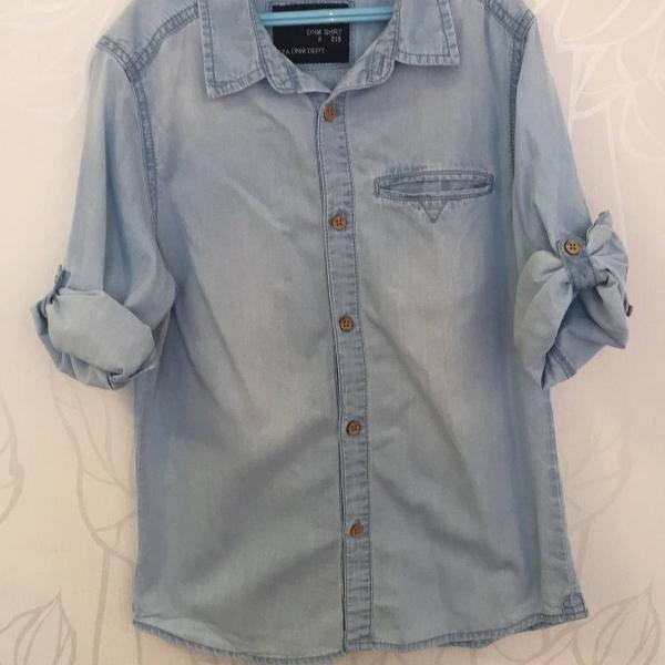 camisa infantil menino zara jeans