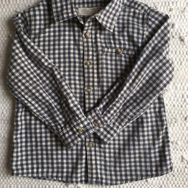 camisa xadrez zara baby
