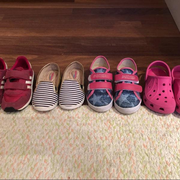 lote 4 pares de sapatos 24