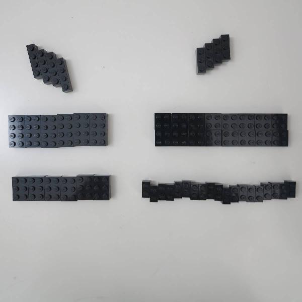 peças soltas Lego, Preto
