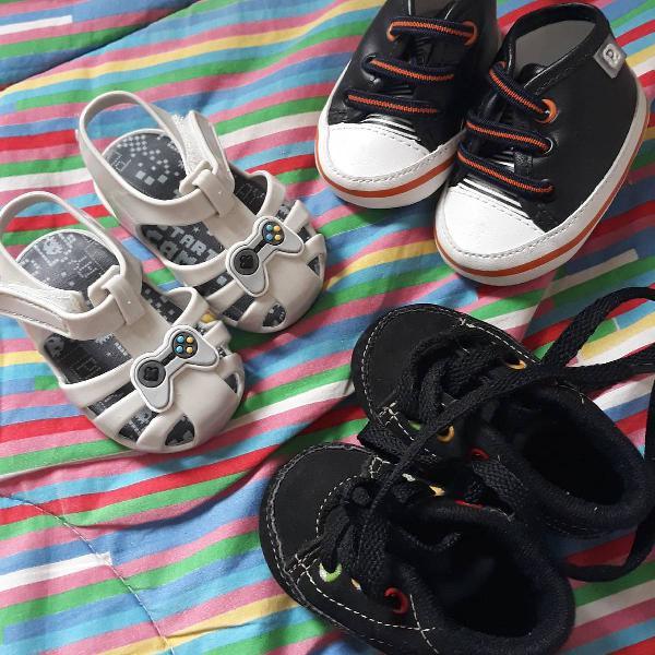 sapatinhos para bebê (lotinho 3 pares)