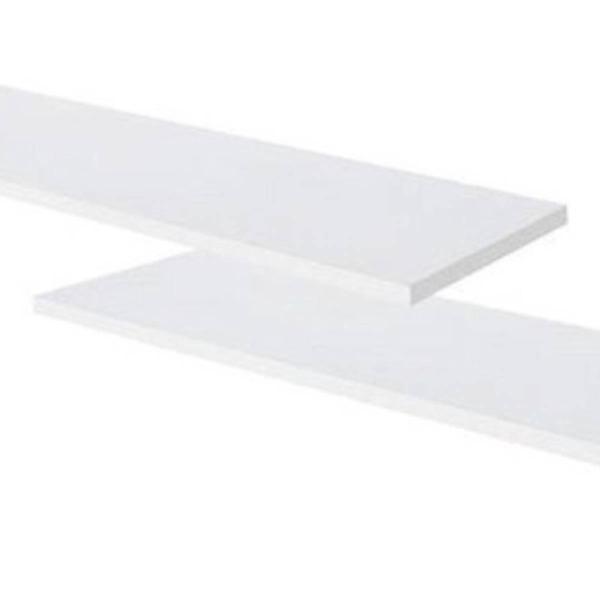 2 prateleiras mdf branco