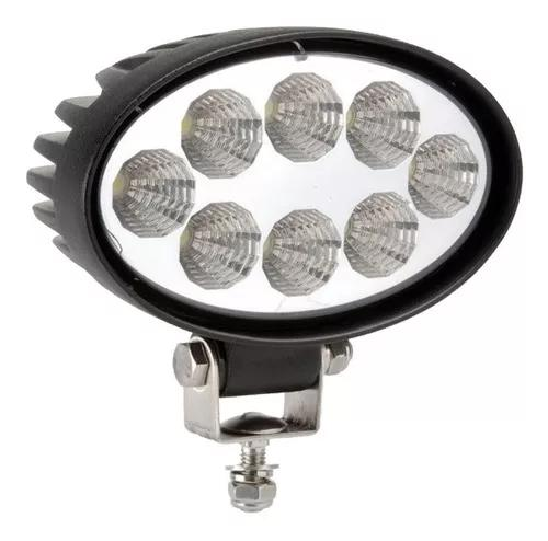 Farol De Milha 8 Led Oval 10~30v 24w Jeep Troller Pick-up