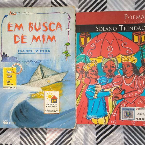 Livros de: Solano Trindade e Isabel Vieira