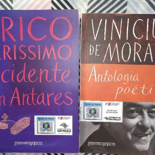 Livros de: Vinícius de Moraes e Érico Verissimo