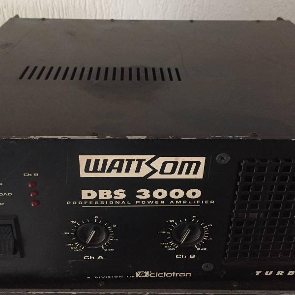 amplificador potência ciclotron dbs-3000, 750 watts rms
