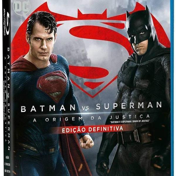 blu ray duplo - batman vs superman - a origem da justiça