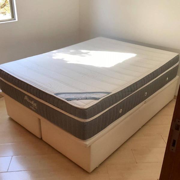 cama box e colchão ortobom