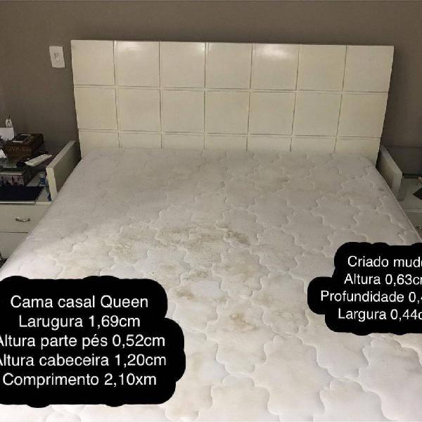 cama de casal Queen madeira maciça