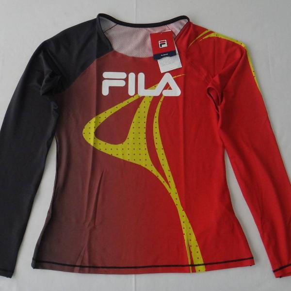 camiseta manga longa fila kenya racer pro original - tam: p