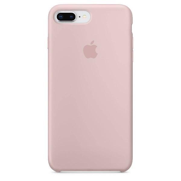 capa de silicone para iphone 8 plus e 7 plus areia rosa