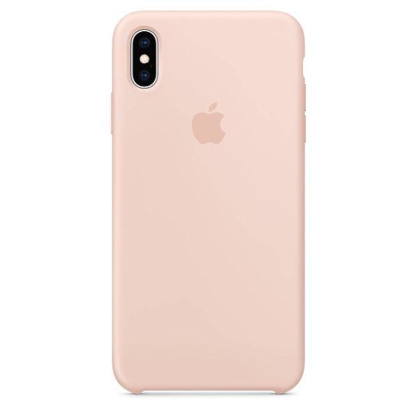 capa de silicone para iphone xs max areia rosa