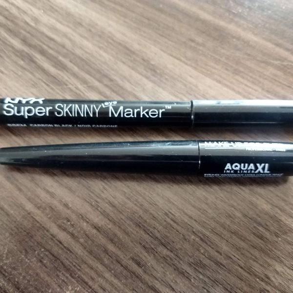 delineador makeup for ever e nyx (kit)