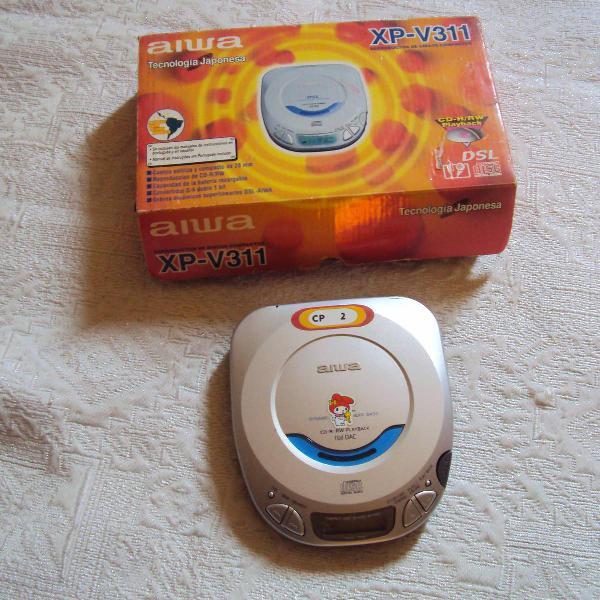 discman portátil cd r/rw xp- v 311 playback
