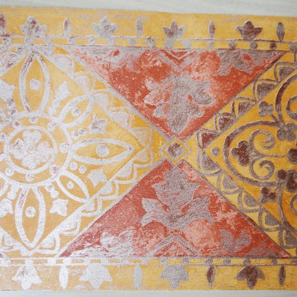 faixa de papel de parede em tons de laranja