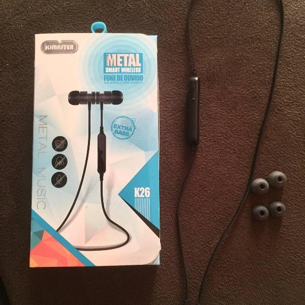 fone de ouvido bluetooth em metal kimaster