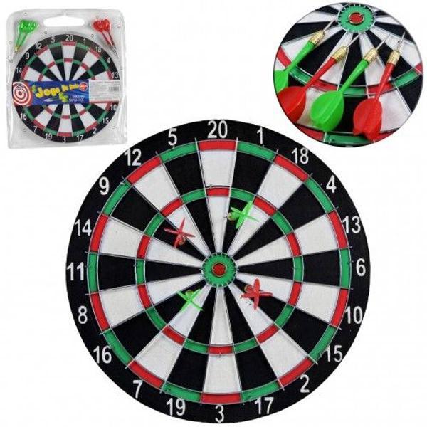 jogo de dardos tabuleiro dupla face 30 cm com 4 dardos