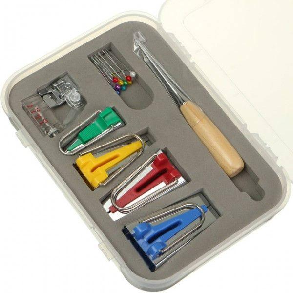 kit para fazer viés manual 4 medidas completo estojo