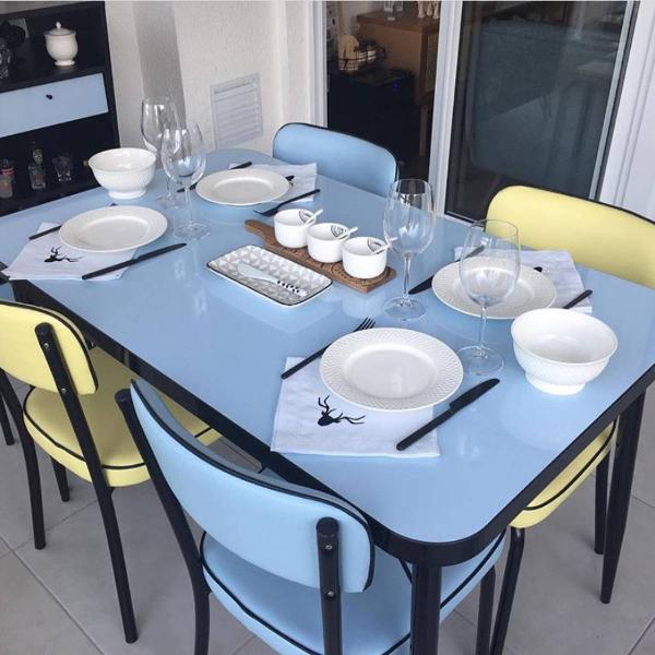 mesa e cadeiras cinquentinha tokstok