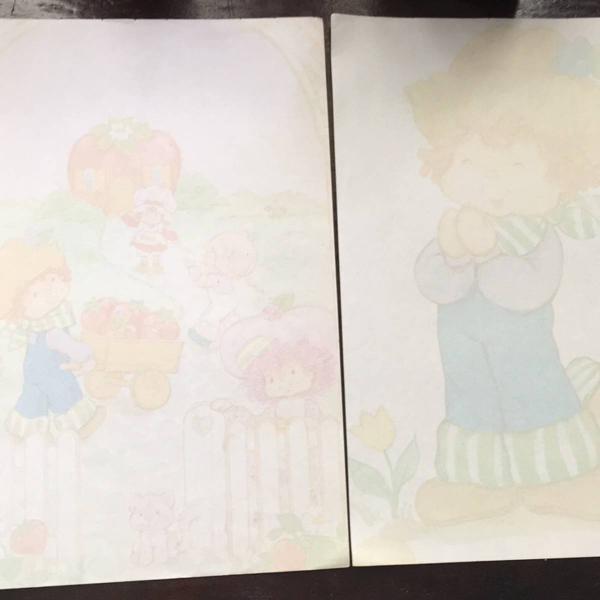 raríssima coleção de papéis de carta moranguinho