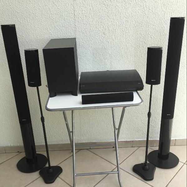 subwoofer + 5 caixas de som - home theater sony bdv-e880