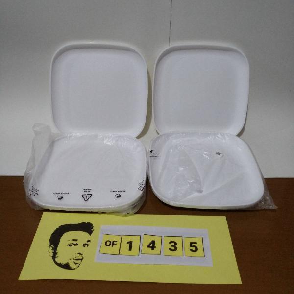tupperware kit 4 pratos pratinhos post me branco