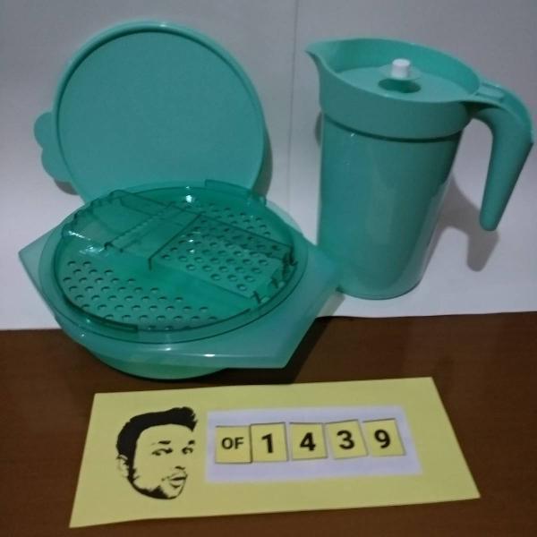 tupperware kit jarra 2l + ralador pratica mint verde claro