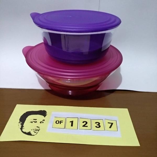 tupperware kit tigela elegancia 2,4/3,2 litros policarbonato