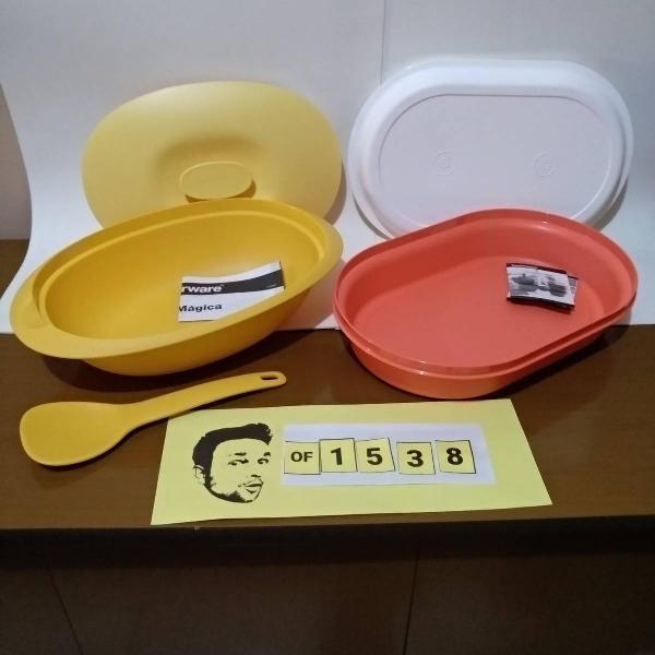 tupperware travessas actualite 1,8l + travessa oval 2l