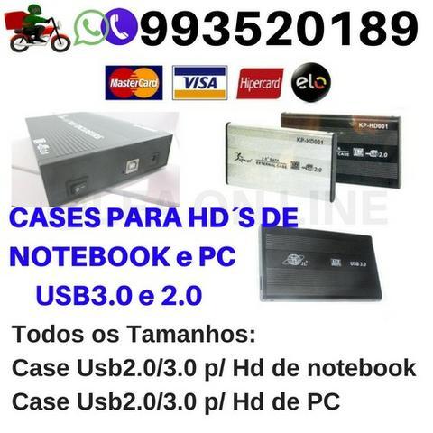 Cases para Hd de Notebook 2.5 e Pc 3.5 Transforme seu hd em