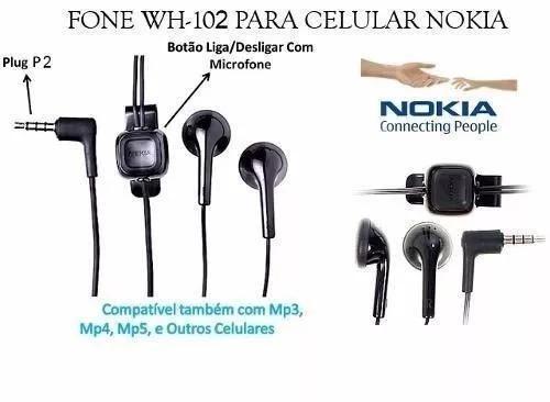 Fone De Ouvidos Para Celular Nokia Original