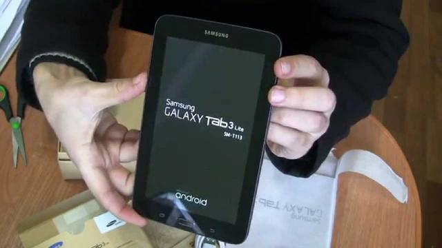 """Tablet Samsung Galaxy Tab 3 Lite, 7"""", SM-TGB, Android"""