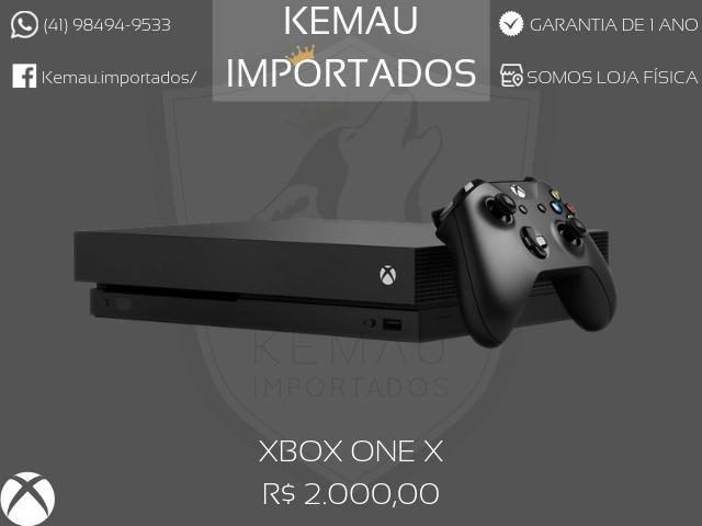 Xbox One X - 1TB com 1 ano de garantia