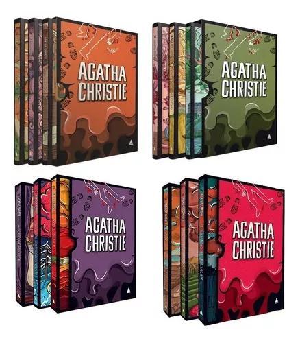 Coleção Agatha Christie Box 1, 2, 3 E 4 Capa Dura